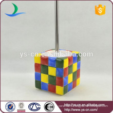 modern Rubik's Cube ceramic toilet brush holder